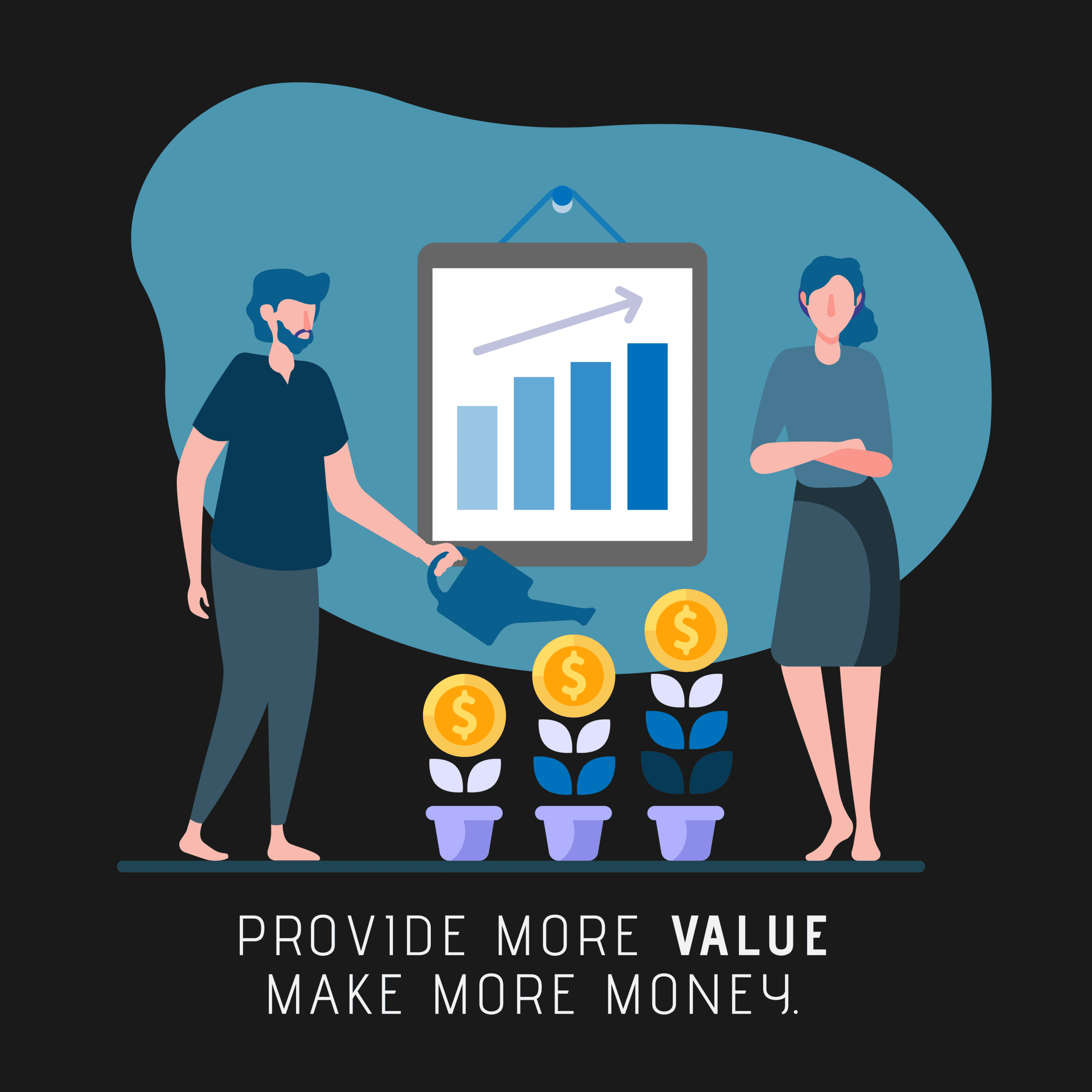 Providing value will make your business grow.