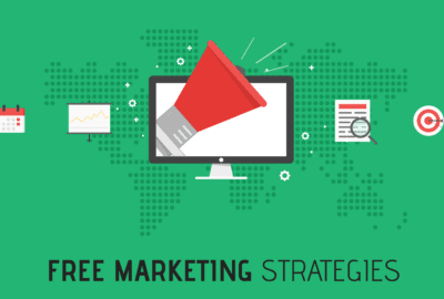 Free Marketing Strategy Cover Photo With Digital Icons; A List Of Tips