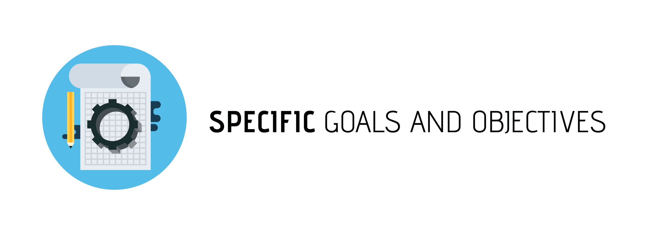 Set Specific Content Goals Banner With Tasks Photo