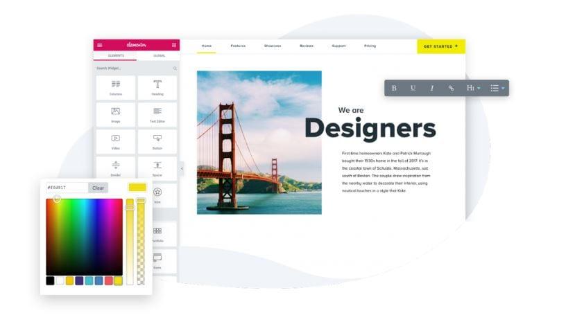 Elementor Content Editor Photo Example.