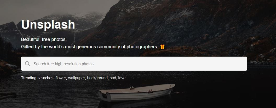 A photo gallery website.