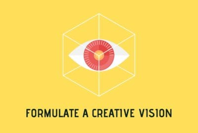 Creative Vision Poster With Eye Element And Title.