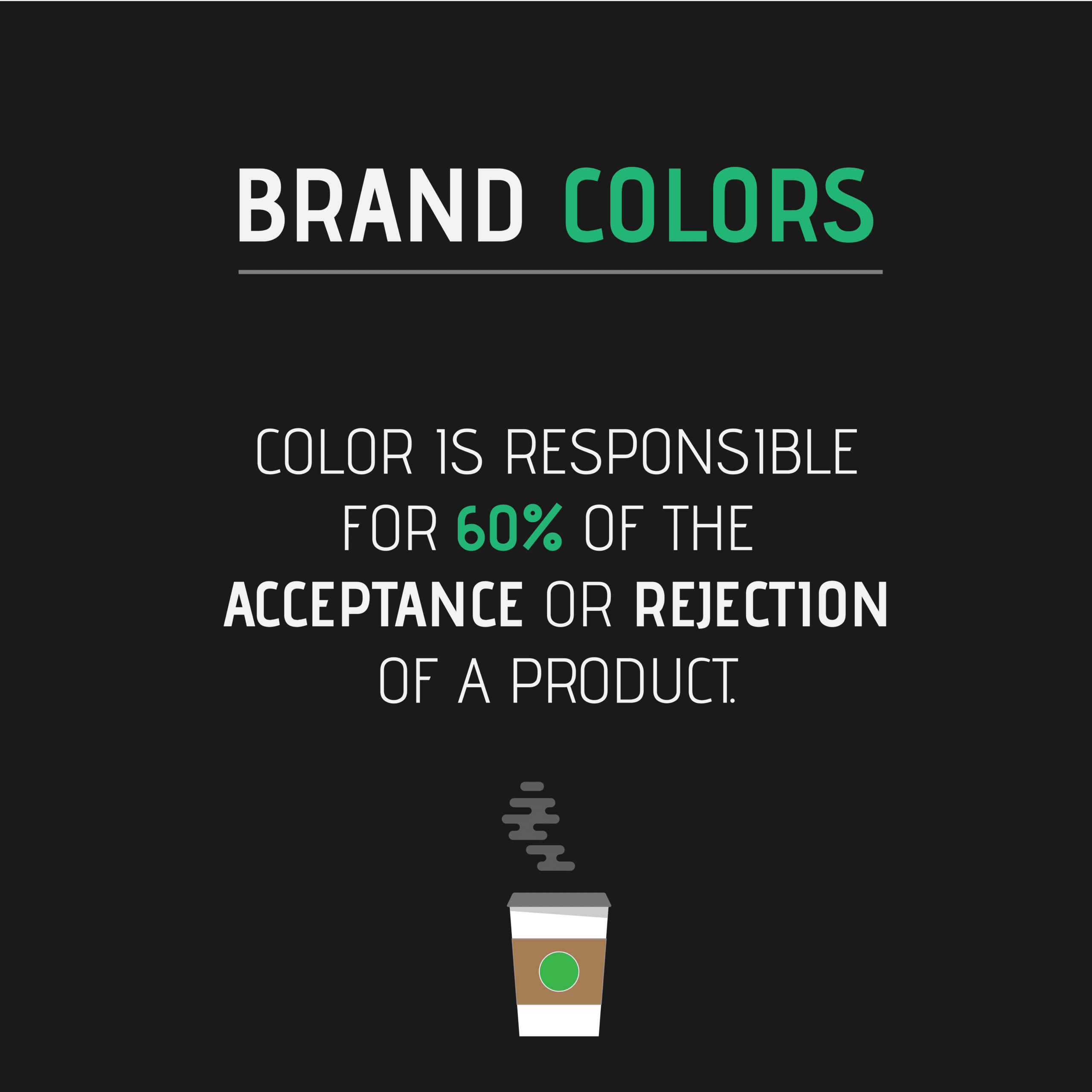 Color is responsible for 60% of the acceptance or rejection of a product. Quote.