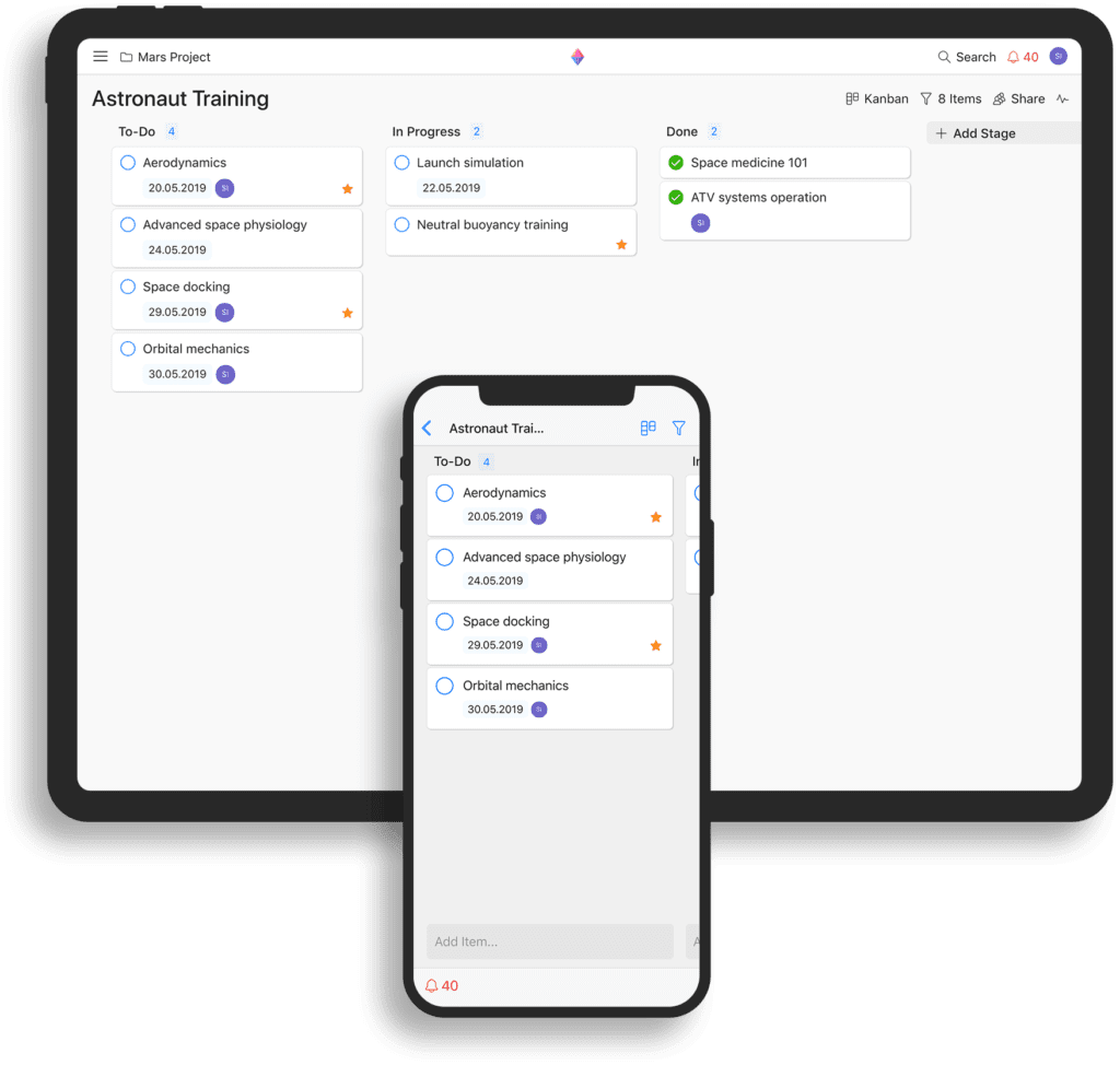 The interface of Zenkit Project Management Tools And Solutions.