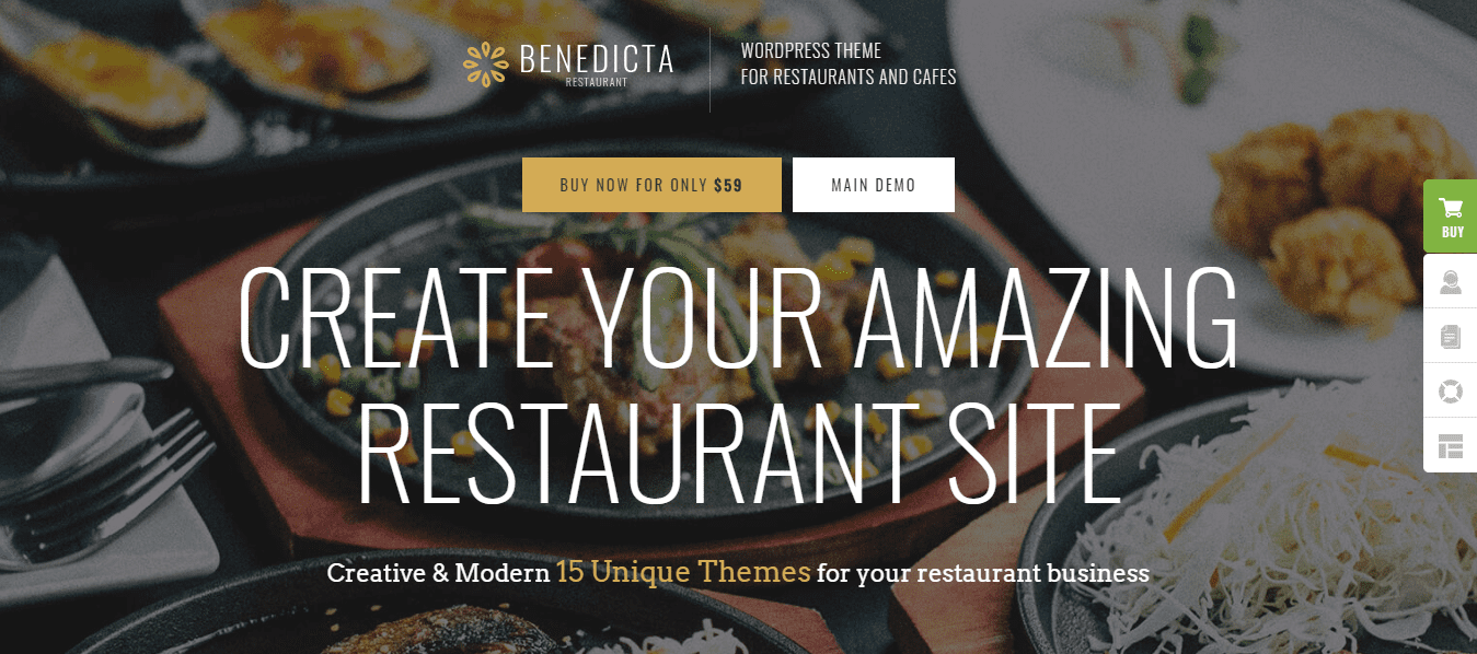 Preview Benedicta is a high-speed optimized theme for your restaurant.