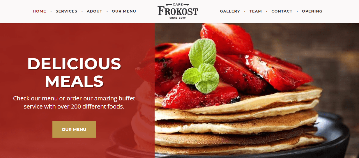 Preview Frokost Theme Restaurant / Cafe Business.