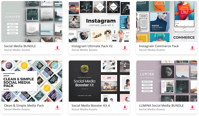The Ultimate Social Media Content Pack On Envato.